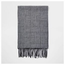 Mens River Island Grey check scarf