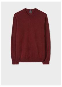 Men's Burgundy Lambswool Sweater