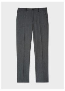 Men's Slim-Fit Navy Flecked-Wool Trousers