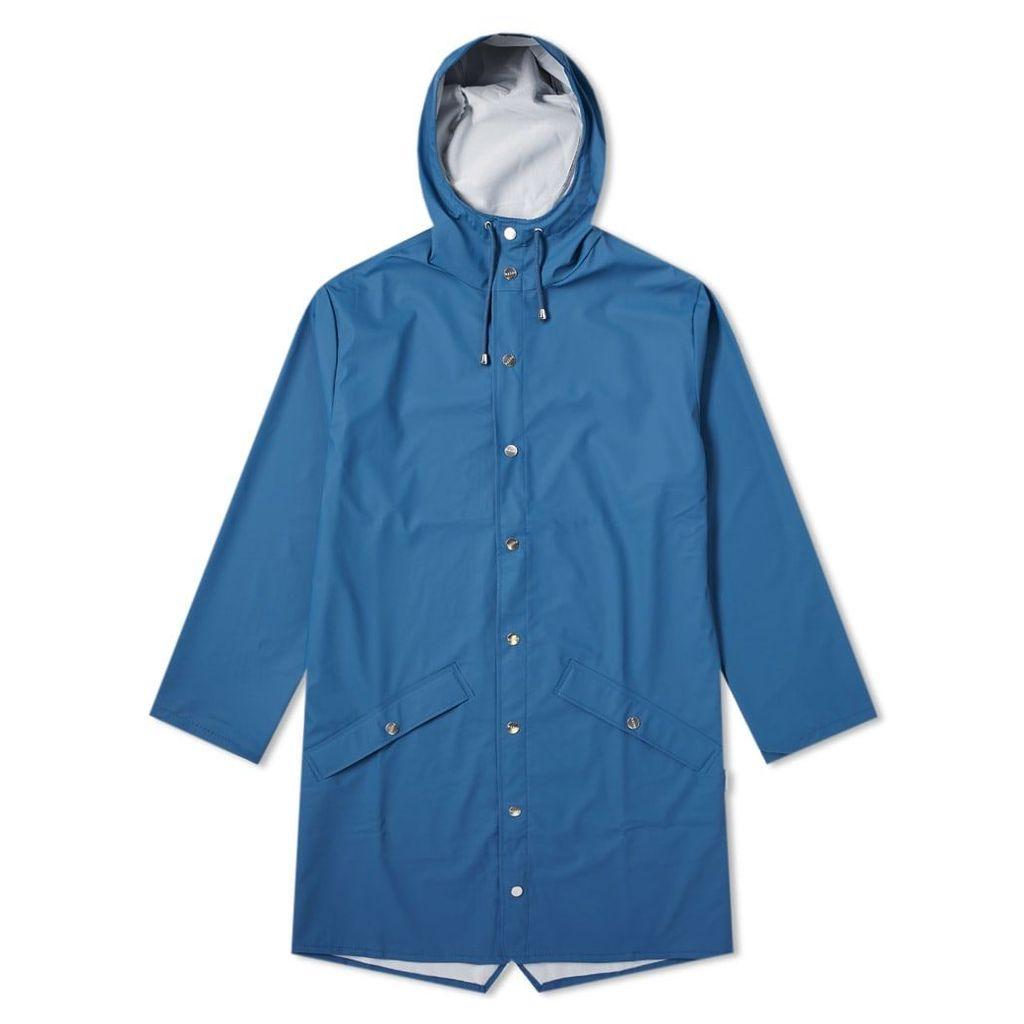 Rains Long Jacket Faded Blue