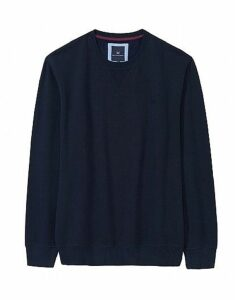 Logo Crew Neck Sweatshirt in Dark Navy