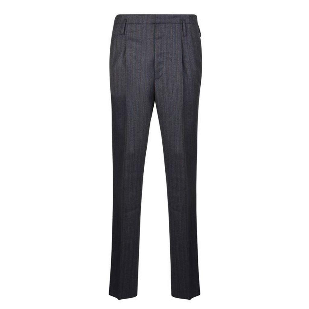 LANVIN Flannel Pinstripe Trousers