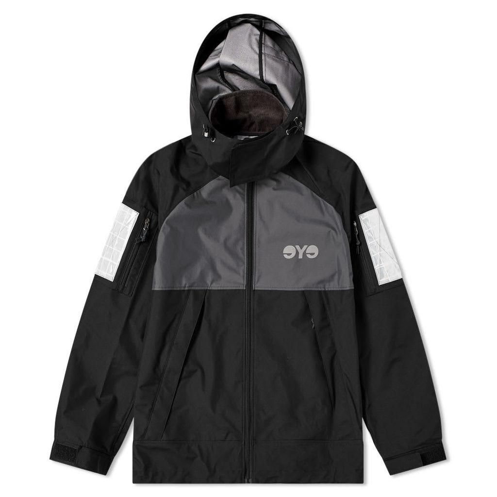 Junya Watanabe MAN Eye Reflective Hooded Jacket Black & Grey