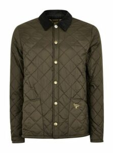 Mens Barbour Beacon Green Quilted Jacket, Green
