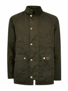 Mens Barbour Beacon Green Wax Jacket, Green