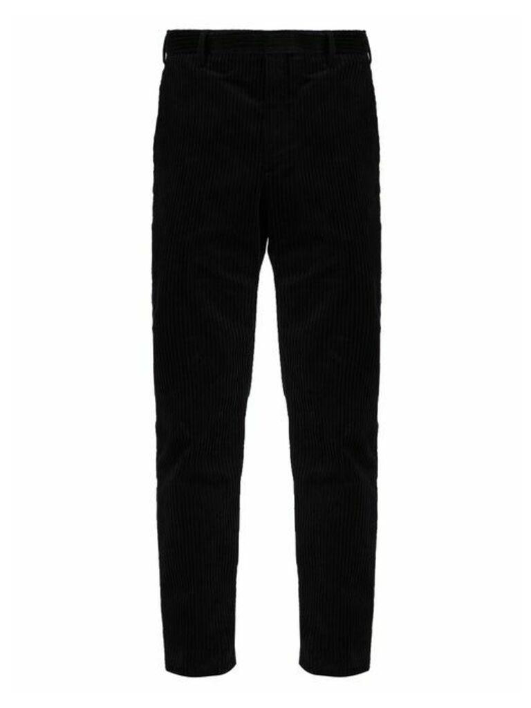 Saint Laurent - Slim Fit Cotton Corduroy Trousers - Mens - Black
