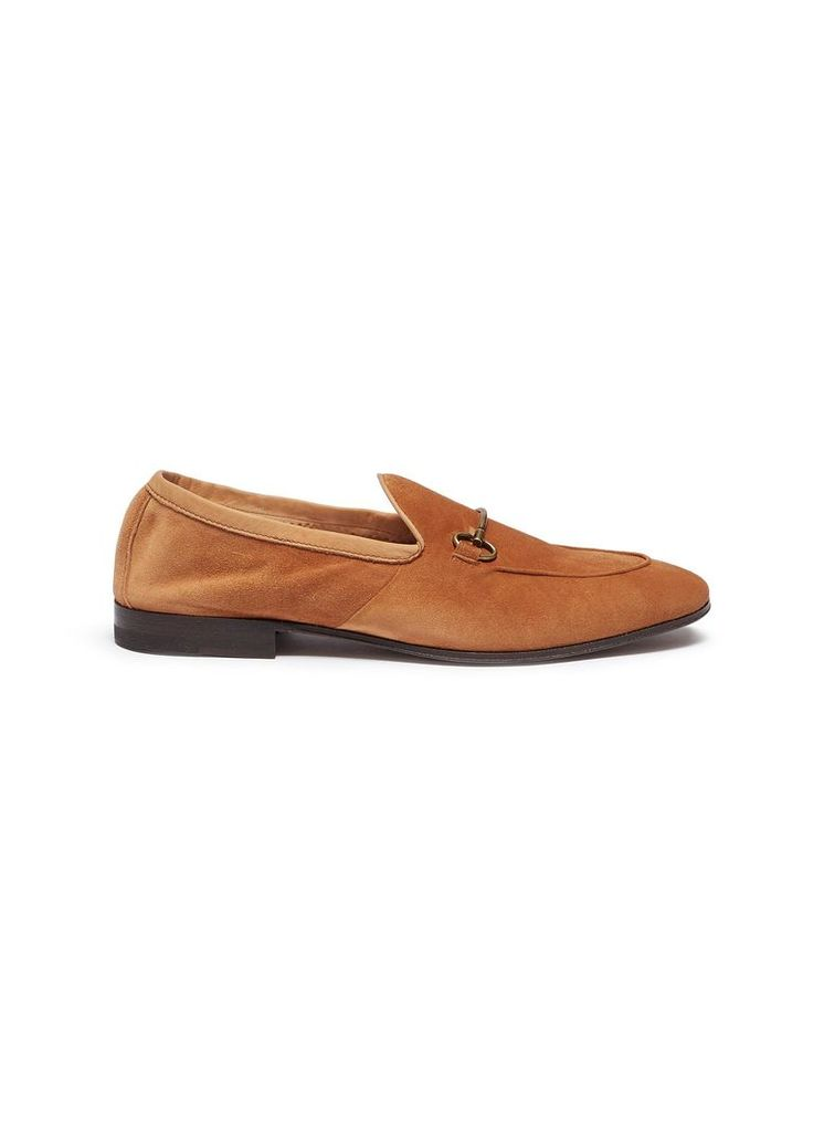 Horsebeit suede loafers