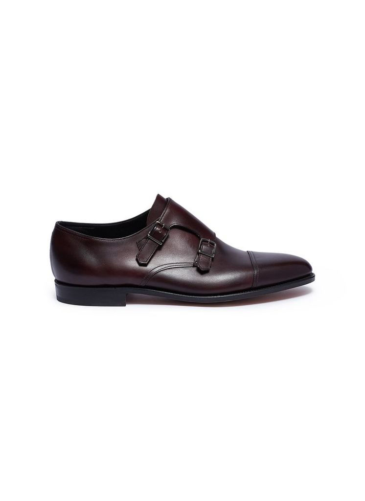 'William' double monk strap leather loafers
