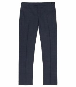Reiss Terrance - Slim Fit Trousers in Airforce Blue, Mens, Size 38