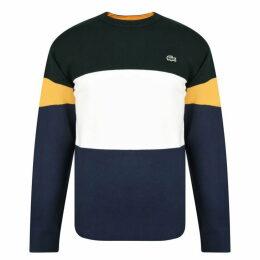 Lacoste Stripe Crew Sweatshirt