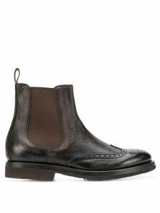 Henderson Baracco brogue chelsea boots - Brown