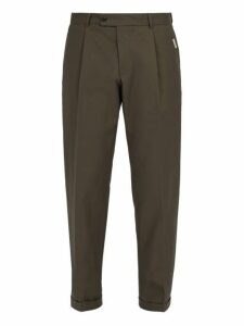 Ribeyron - Cotton Gabardine Trousers - Mens - Green