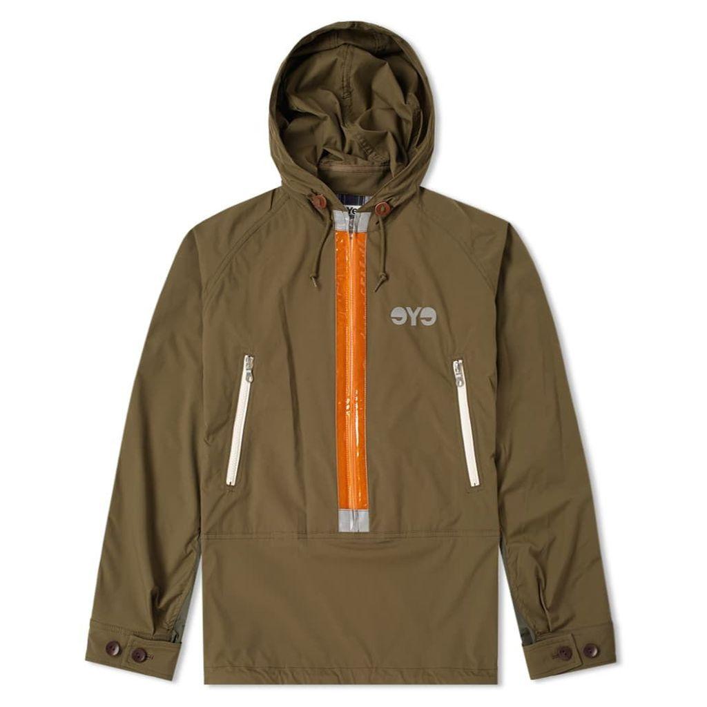 Junya Watanabe MAN Reflective Taped Popover Jacket Khaki