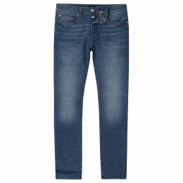 Mens River Island Blue Clint bootcut jeans