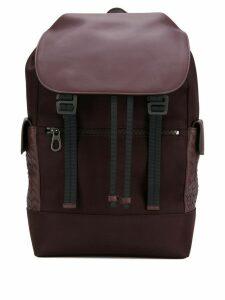Bottega Veneta Intrecciato panel backpack - Brown