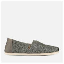 TOMS Men's Birch Technical Knit Alpargata Espadrilles - Light Grey - UK 10 - Grey
