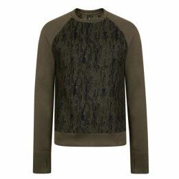 Neil Barrett Camouflage Neoprene Long Sleeved Sweatshirt