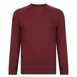 Boss Casual Wyan French Terry Logo Patch Sweatshirt