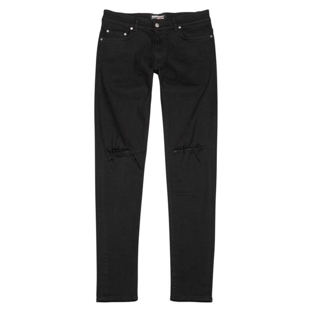 Represent Destroyer Black Skinny Jeans