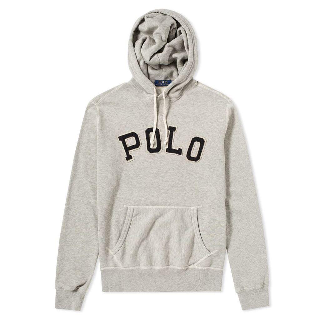 Polo Ralph Lauren Collegiate Popover Hoody Grey