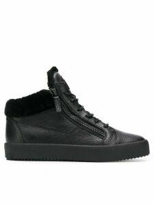 Giuseppe Zanotti side zip sneakers - Black