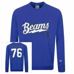 Champion X Beams Logo Sweatshirt Blue