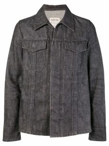 Helmut Lang Pre-Owned raw denim slim jacket - Grey