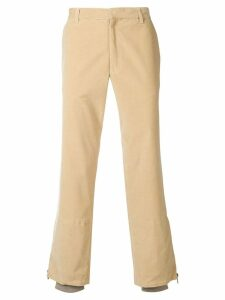 Romeo Gigli Pre-Owned corduroy straight-leg trousers - Brown