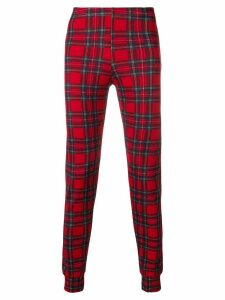 Comme Des Garçons Pre-Owned checkered fitted trousers