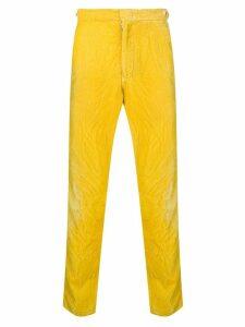 Comme Des Garçons Pre-Owned velvety slim trousers - Yellow