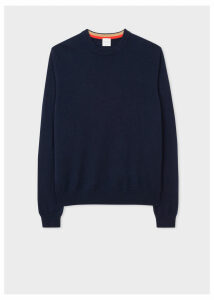 Men's Navy Cashmere Crew Neck Sweater