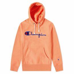 Champion Reverse Weave Script Logo Hoody Peach