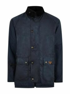 Mens Barbour Beacon Navy Wax Jacket, Navy