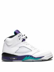 Jordan Air Jordan 5 Retro sneakers - White/New Emerald-Grp Ice-Blk