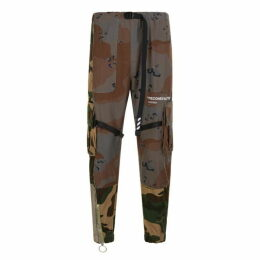 Off White Camouflage Cargo Trousers