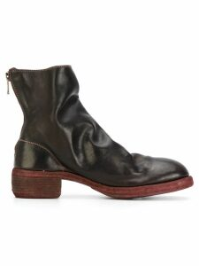 Guidi stacked heel boots - Brown