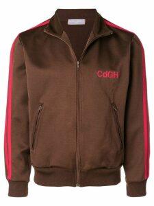 Comme Des Garçons Pre-Owned chest logo tracksuit jacket - Brown