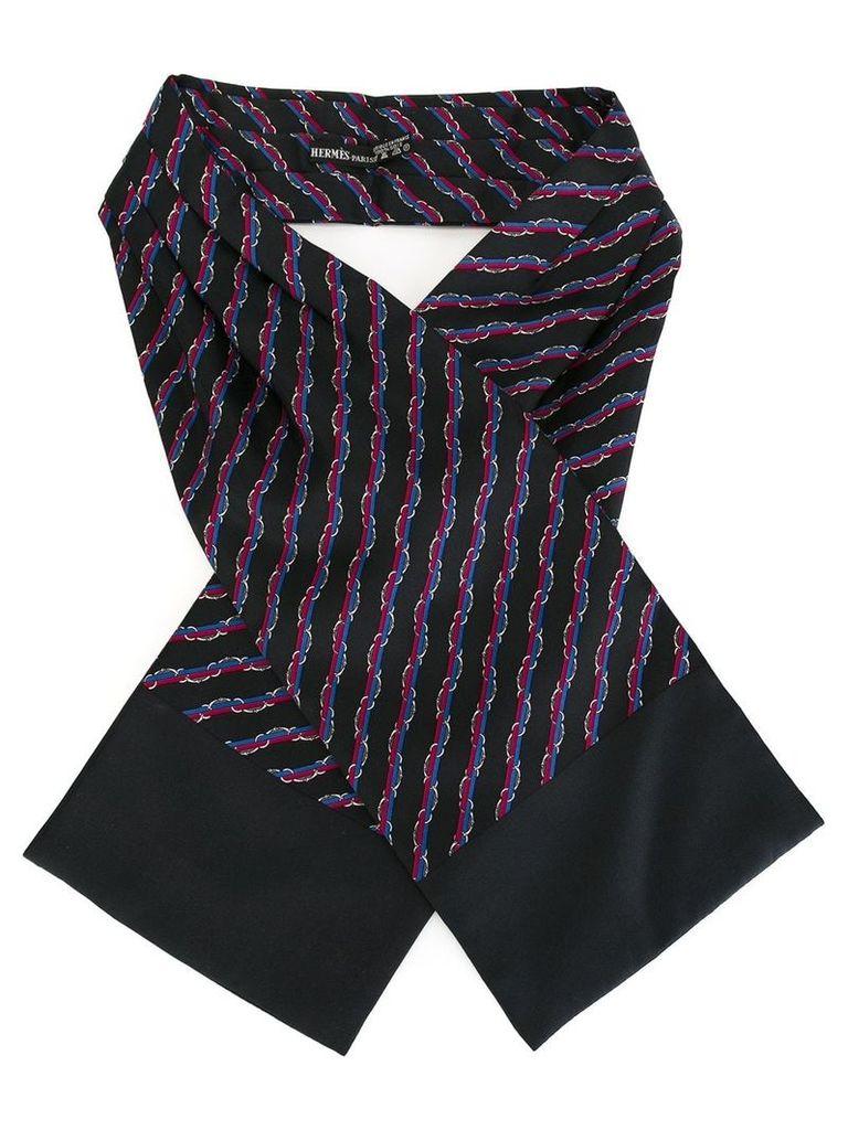 Hermès Vintage ribbon pattern scarf - Blue
