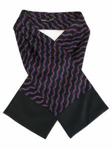 Hermès Pre-Owned ribbon pattern scarf - Blue