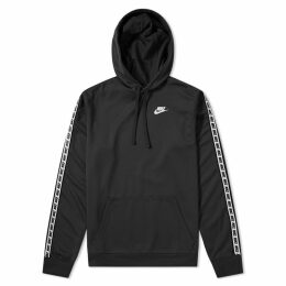 Nike Repeat Poly Pullover Hoody Black & White