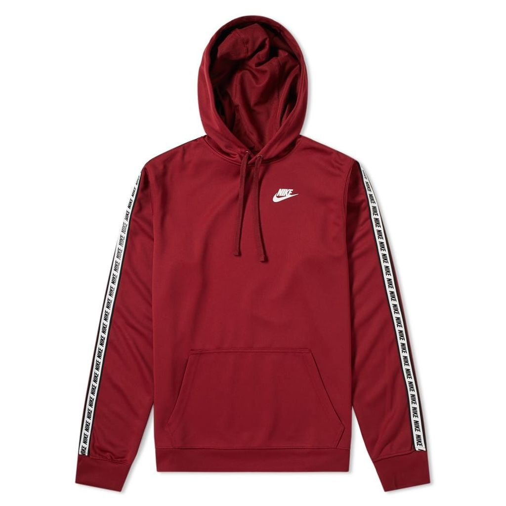 Nike Repeat Poly Pullover Hoody Team Red & White