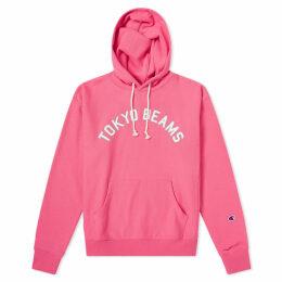Champion x Beams Popover Hoody Pink
