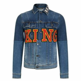 Dolce and Gabbana King Logo Denim Jacket