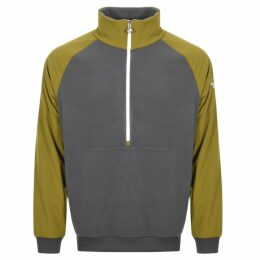 The North Face Half Zip Fleece Sweatshirt Grey