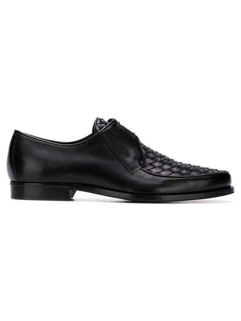 Bottega Veneta woven Derby shoes - Black