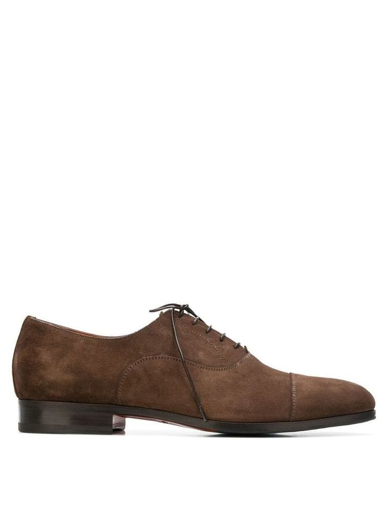Santoni lace-up oxford shoes - Brown