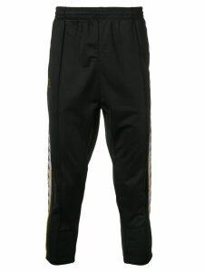 Kappa side logo track pants - Black