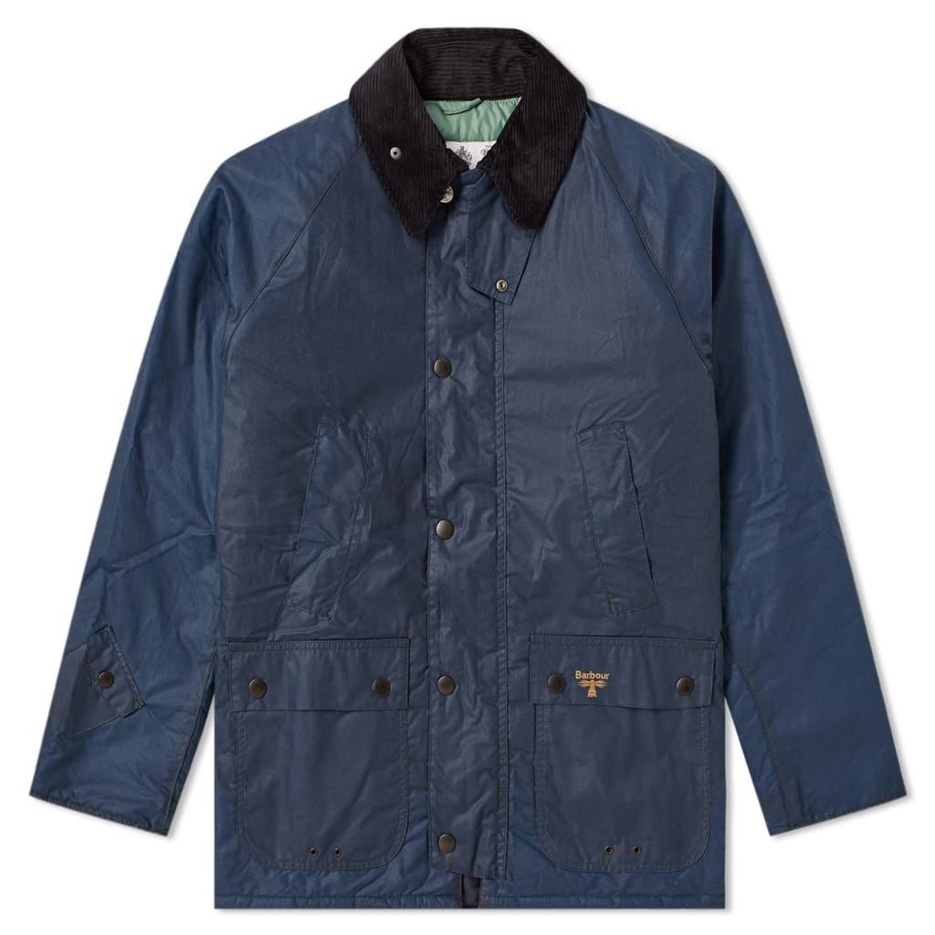 Barbour Lingmell Wax Jacket Dark Denim