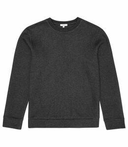 Reiss Hatton - Crew Neck Sweatshirt in Charcoal, Mens, Size XXL