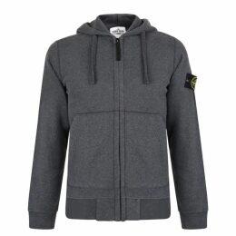 Stone Island Zip Hooded Sweatshirt